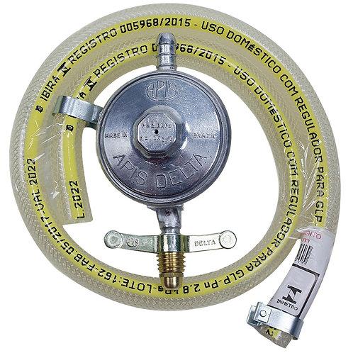 Regulador de Gás Doméstico c/ Mangueira 80 Cm