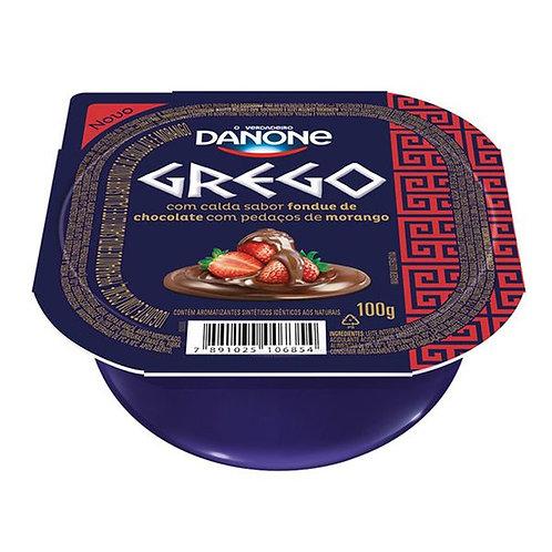 Iogurte Grego Fondue Morango Chocolate Danone 100g