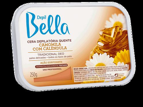 Cera Depilatória Quente em Barra 250g Depil Bella Camomila com Calêndula