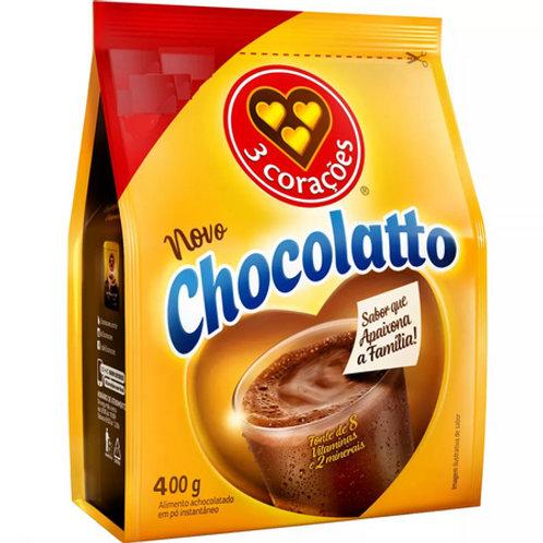Achocolatado Pó Chocolatto Três Corações Refil 400g