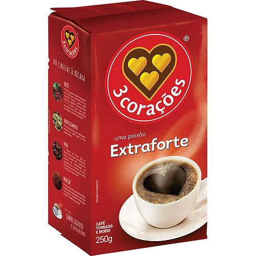 Café 3 Corações a vácuo extra forte 250g