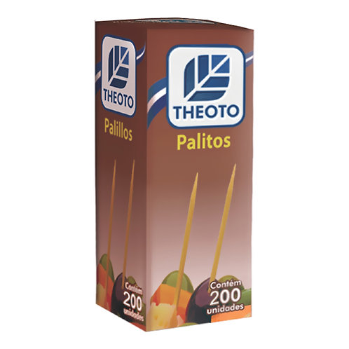 Palito de Dente THEOTO Embalagem 100 Un