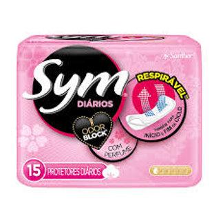 Protetor Diário Sym Com Perfume Com 15 Unidades