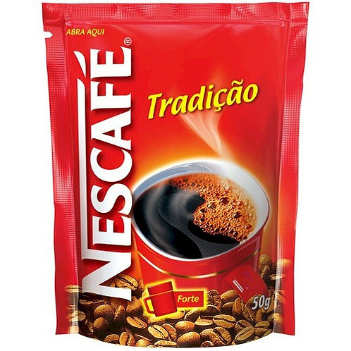 Café Solúvel Nescafé Tradição Sachê NESTLÉ 50g