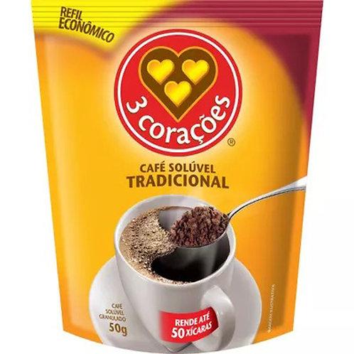 Compra Food Service Café Solúvel 3 Corações Tradicional Sachê 50g