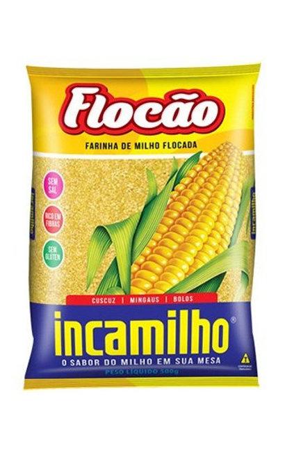 Farinha de milho Flocada Flocão Incamilho 500g