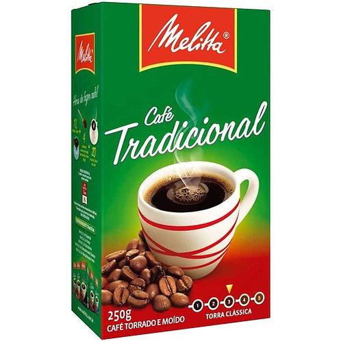 Café Torrado e Moído Melitta Tradicional A Vácuo 250g