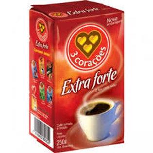 Café Vácuo Extra Forte 3 Corações 250g
