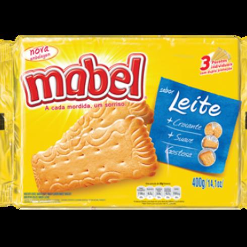 Biscoito Laminado Mabel leite 400g