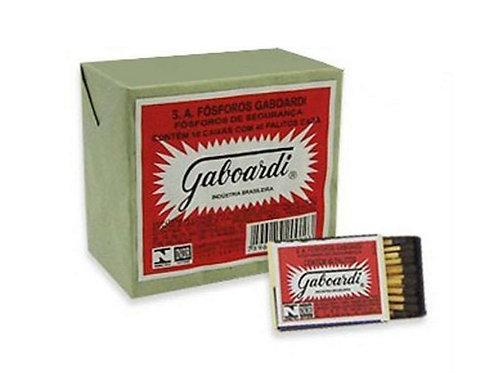 Fósforo Gaboardi com pacote com 10 caixas com 40 unidades