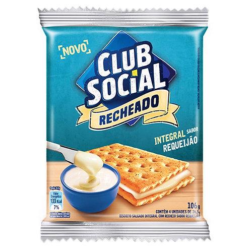 Biscoito Clube Social Integral Recheado Sabor Requeijão 106g