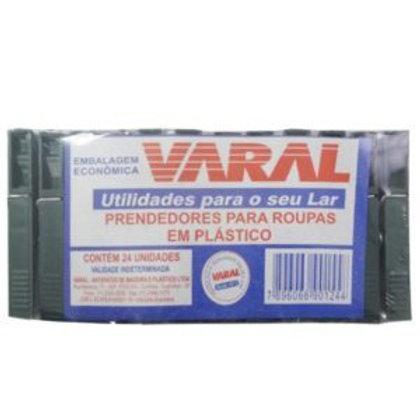 Prendedor de Plástico p/ Roupas Varal c/12un