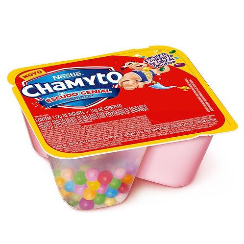 Bebida láctea sabor morango com cereais de colorido Chamyto 130g