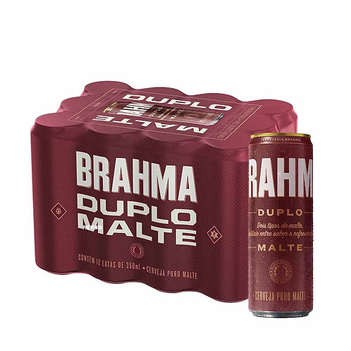 Cerveja Brahma Duplo Malte 350ml Pack (12 Unidades)