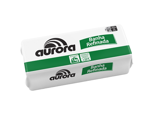 Banha Suína Aurora Refinada 1kg