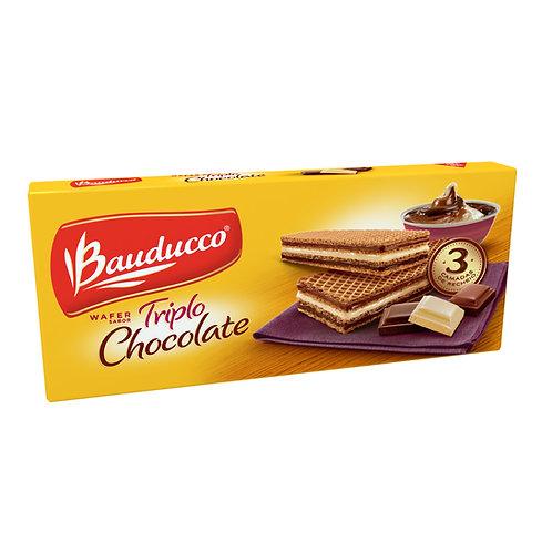 Biscoito BAUDUCCO Wafer Triplo Chocolate Pacote 78g