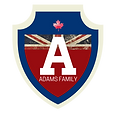 The Adams Family HR Logo with white shad