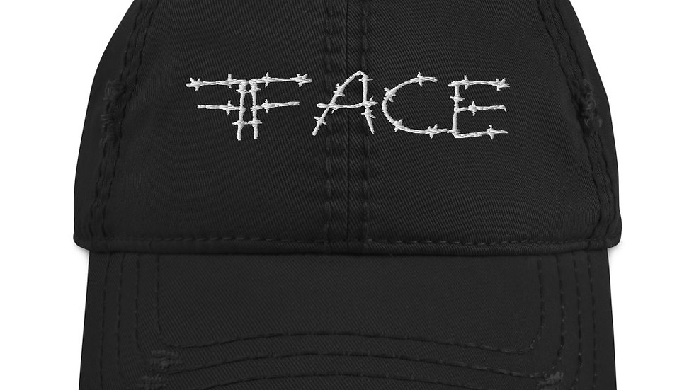 Distressed 2Face Dad Hat