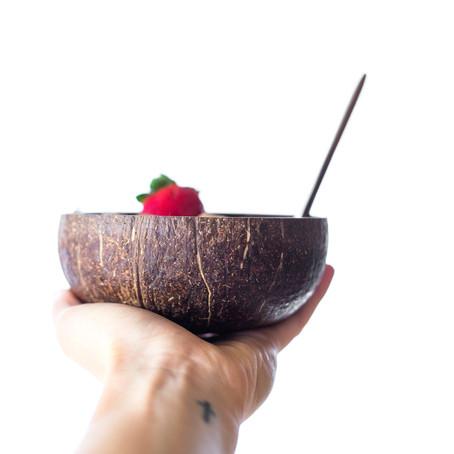 Kókusztál: növényi tál valódi kókuszdióból - a természet ajándéka otthonodba