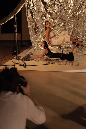 La séance photo : derrière la caméra