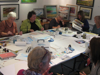Watercolour painting course at Court Farm Studio, Newhaven. October 2012.