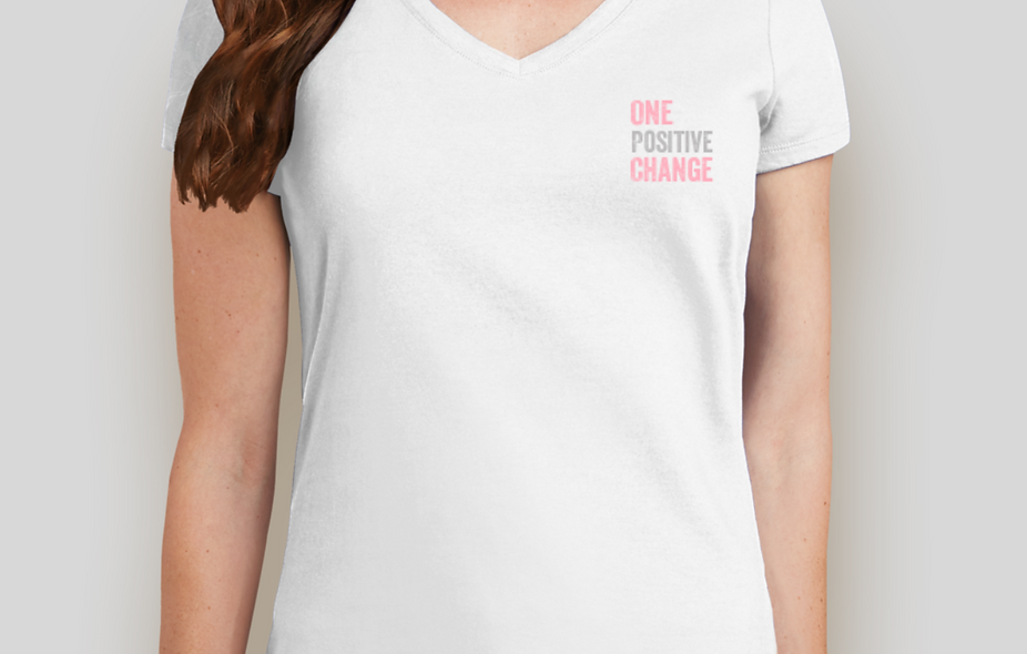 ONE POSITIVE CHANGE WOMEN'S T-SHIRT