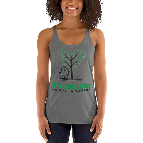 Women's Grey Racerback Tank