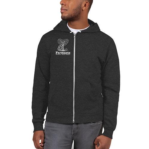 Grey Hoodie Zip Sweatshirt.