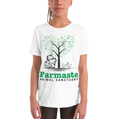 Youth White Short Sleeve T-Shirt