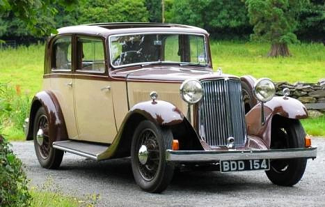 1934 20hp with a non-standard body.