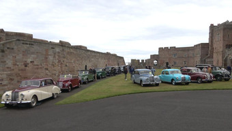 The celibrations started with gathering of Armstrong Siddeleys at the Home of Armsrongs decndents Bamborgh Castle where one of the AS Heritage Trusts 14hp saloon is on display.