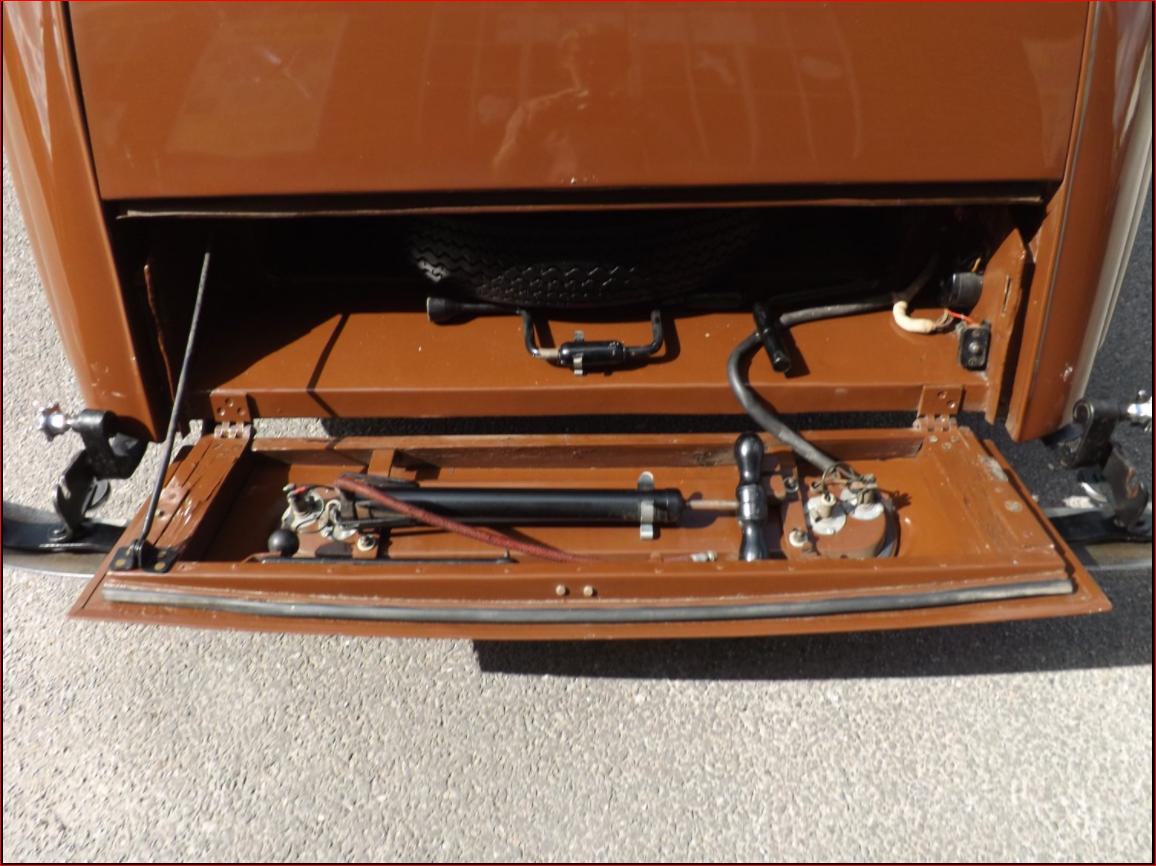 Lancaster spare wheel locker with tools.