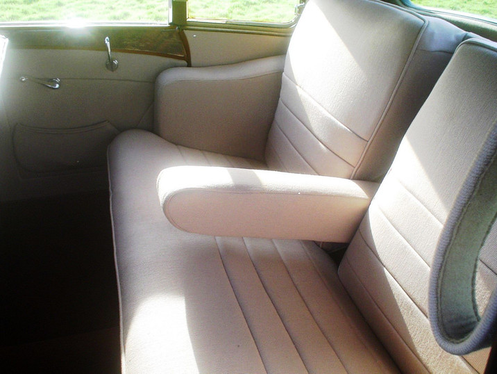Unusual cloth rear covered seats. Many cars came out of the factory in 1947-8 like this.