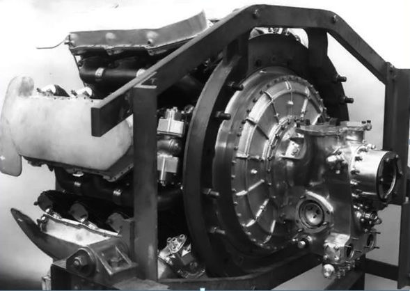 Armstrong Siddeley Dearhound engine rear