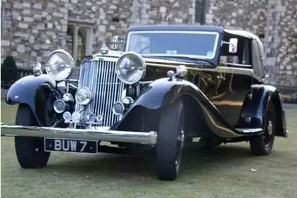 1935 Special with a Vanden Plas body.