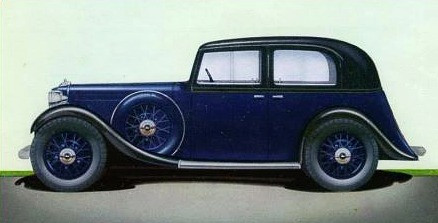 1935 17hp Fourlight. Fourlight car are so known because the body has four side windows, two on each side.