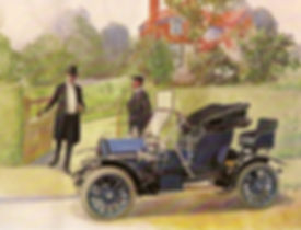 1904. Siddeley. Tonneau, Twin-cylinder,