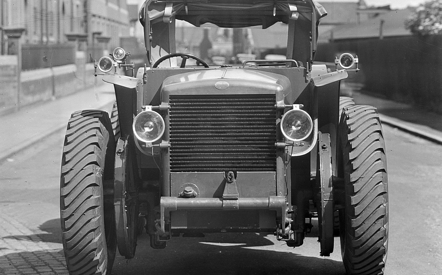 Front view of tractor.