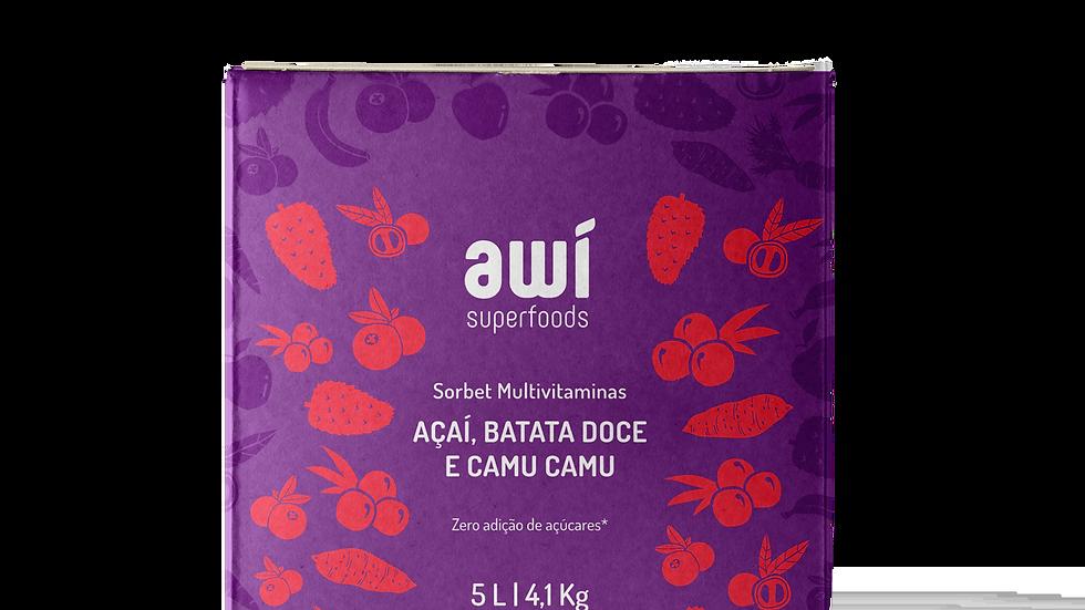 Sorbet Açaí, Batata Doce e Camu Camu 5L