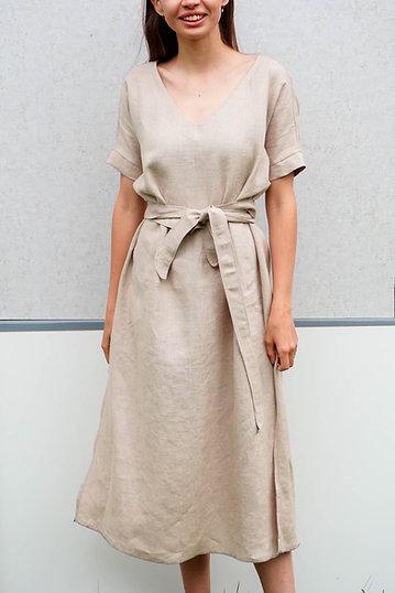 Ľanové šaty 2v1