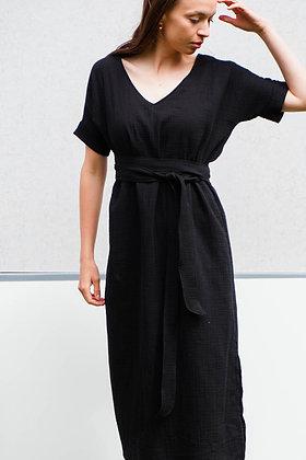 Šaty 2v1_čierne