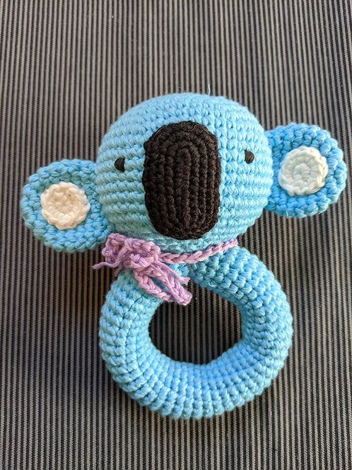 Koala Crocheted Ring Rattle