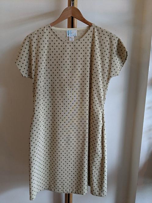 Ena Designs Spotty Printed Linen Kazam Dress.