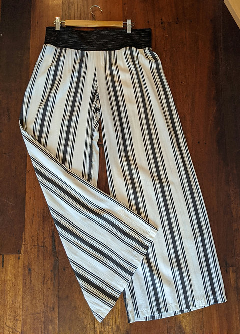 Ena Designs Stripe Wide Leg Pants