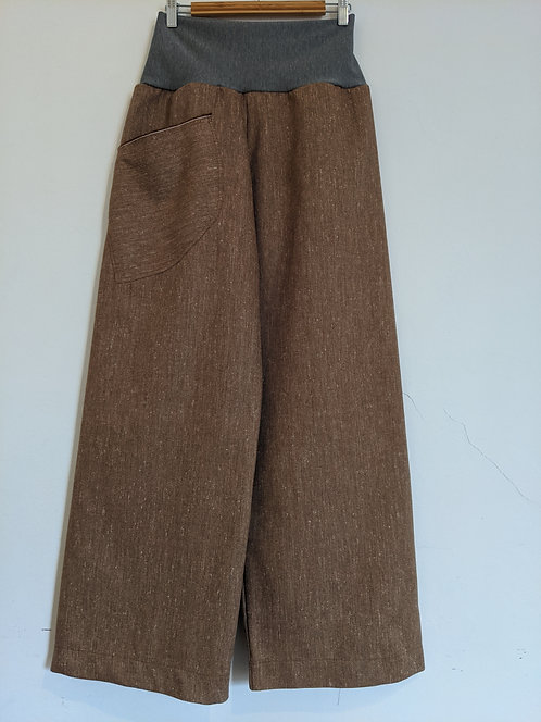 Ena Designs Wool Rust Fleck Easy Pant