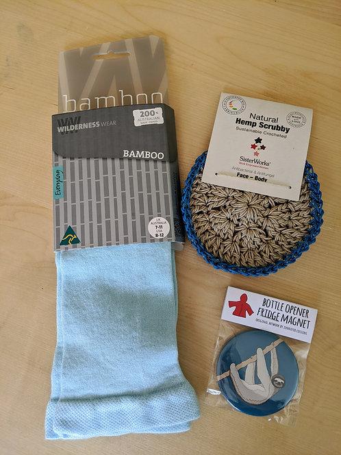 Gift Pack - Socks, Face/Body Cloth and Magnet/Bottle Opener