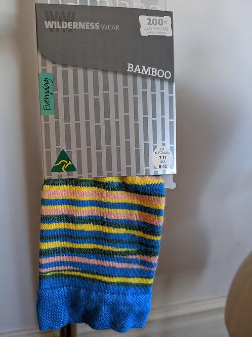 Bamboo Socks- Blue Stripe