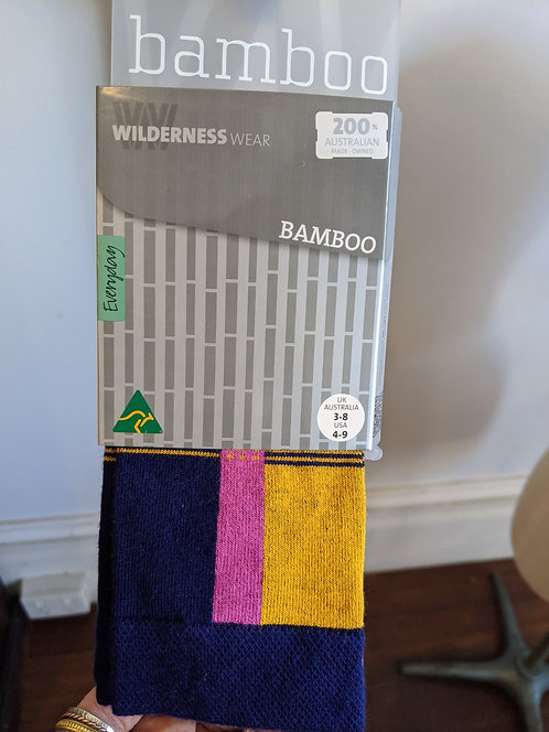 Bamboo Socks Blue/Yellow/Pink