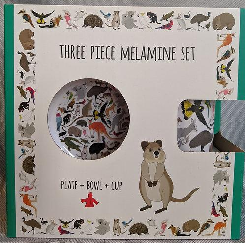 Melamine 3 piece set - Australian Animals