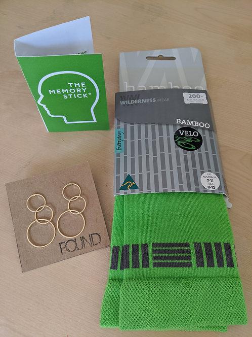 Gift Pack- Socks, Earrings and Memory Stick